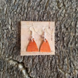 "Boucles d'oreilles  ""orange"""